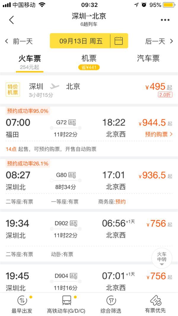 中秋车票今天开抢!部分航班机票价竟比高铁还便宜?