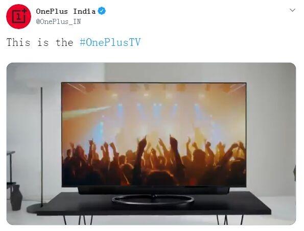 一加印度发布首款智能电视OnePlus TV:4K屏杜比视界 售价7024元起