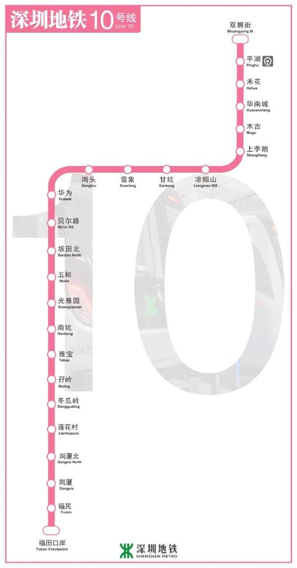 """来了!深圳地铁10号线今日开门迎客:开设""""华为""""站,位于华为全球总部附近"""