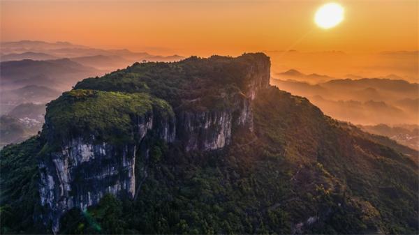 曾经是海洋!贵州发现四亿多年前古化石 附近山体岩石垮塌露出线索