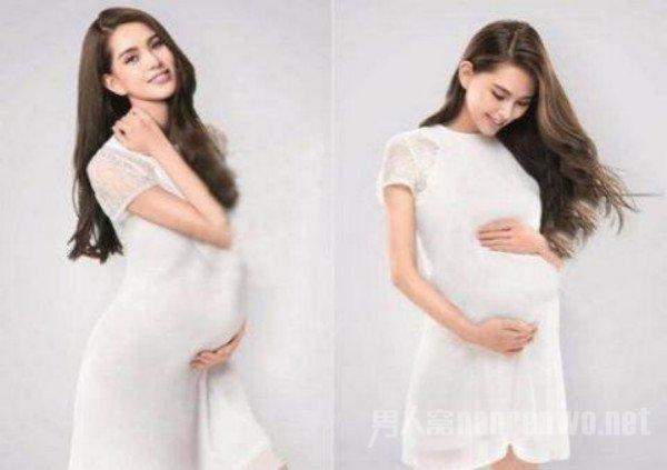 香港名模乐基儿怀孕 女明星孕肚照大盘点图片
