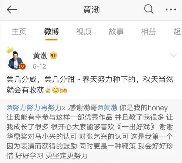 黄渤王迅祝福小绵羊夺华鼎最佳男配 张艺兴受质疑?