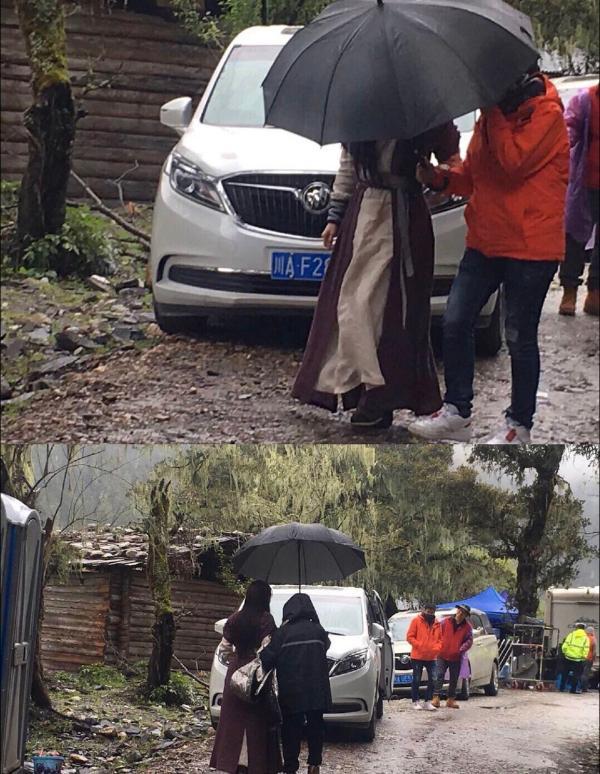 赵丽颖王一博新路透造型曝光