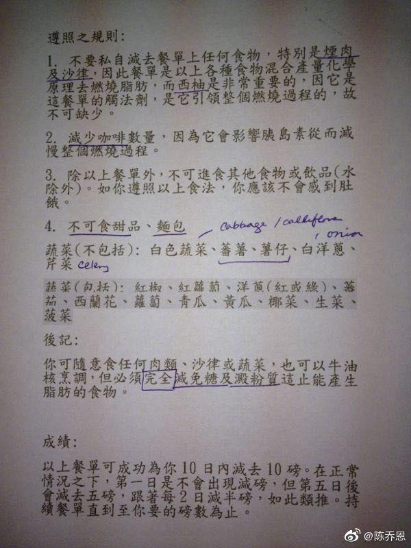 陈乔恩否认怀孕后公开减肥食谱