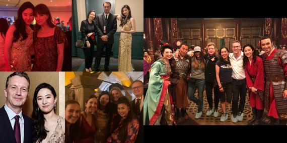 """刘亦菲晒《花木兰》合影 感谢剧组""""你们成了我的家人"""""""