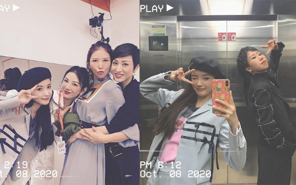 林小宅集邮现场!与蔡少芬陈法蓉抱作一团 和上官喜爱电梯比耶