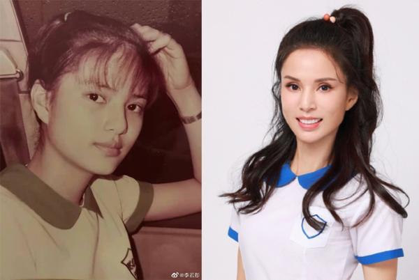李若彤穿17岁时同款校服 少女感十足美貌如初
