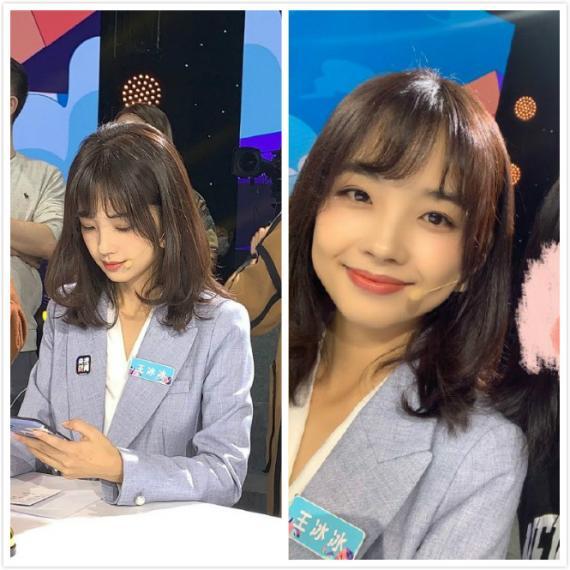 央视主持人王冰冰活动生图曝光 可爱圆脸颜值能打