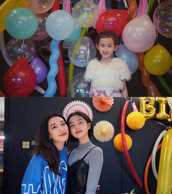 多多为妹妹庆祝7岁生日 小短发涂红唇显成熟