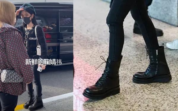 马丁靴子太薄!Kiku只能塞两条腿 宋宣亚的腿和手腕一样细
