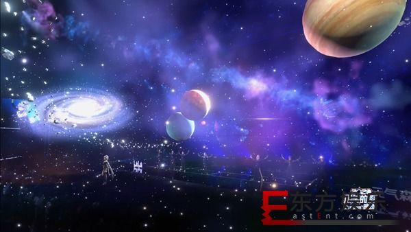 洛天依酷炫造型惊艳最美的夜 一首《夜航星》带领走进三体文明