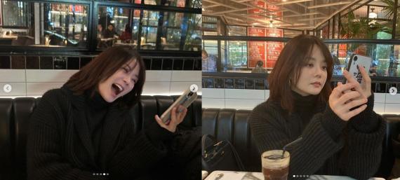 蔡琳晒新年与朋友聚会照 低头看手机大笑疑走出离婚阴霾