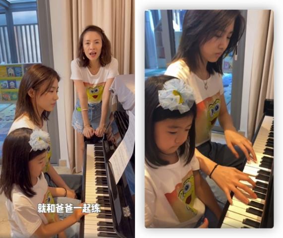 汪峰晒小苹果 醒来弹钢琴 视频庆祝章子怡生日