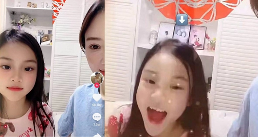 李小璐带甜馨拜年 背景亮了!
