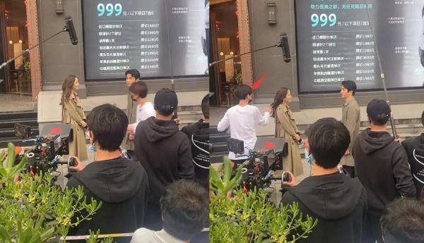 娜扎陈晓街头拍戏曝路透 女方助理飞奔过去整理头发