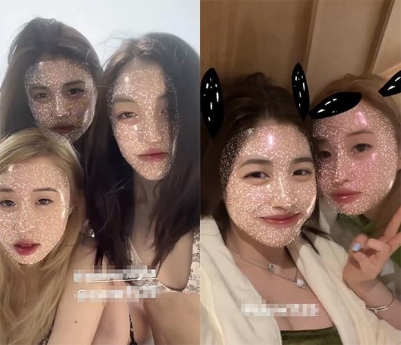 李嫣小苹果闺蜜团三亚度假 穿泳衣大玩怼脸自拍