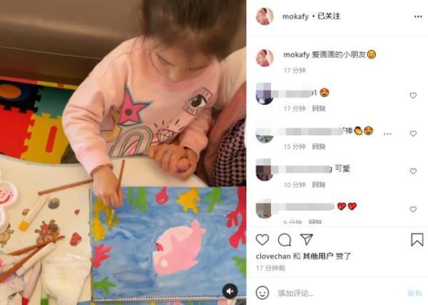 郭富城3岁的女儿面临第一次曝光 浓眉高鼻梁像妈妈