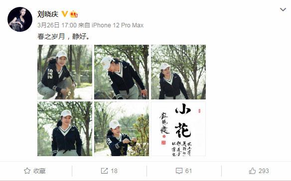 65岁刘晓庆晒近照发感慨:春之岁月,静好