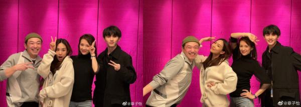 《我就是演员》周末总冠军章子怡孙与球员合影助威