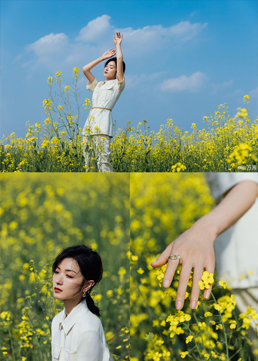 和赵露思沈月金晨一起学 如何拍出春日赏花美照!