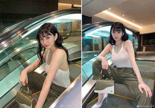 邱淑贞21岁女儿大走野性风!沈月穿工装背心展丰满身材