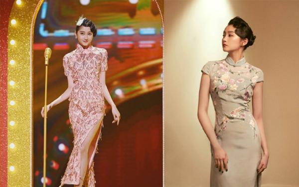 景甜旗袍扮相绝美!女星中谁的造型更具魅力