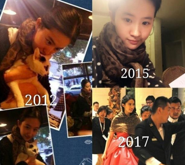 刘亦菲一把椅子用18年 还有10年的羽绒服,9年的围巾