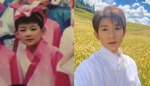 男明星童年女装:王元头戴着林更新那样的小红花是什么