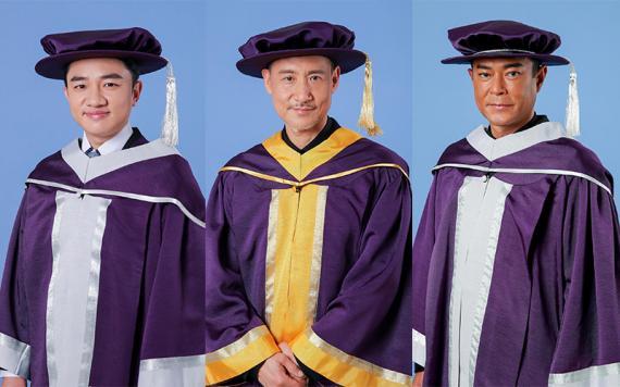 张学友获颁香港演艺学院荣誉博士 古天乐王祖蓝获荣誉院士