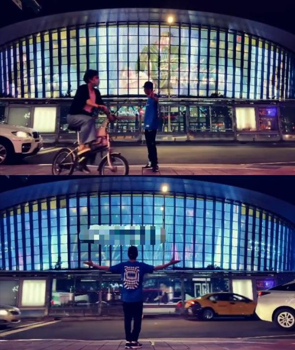 最真实的街拍!林俊杰在自己广告墙前热舞却没人认出