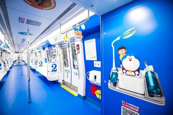 《哆啦A梦:伴我同行2》主题地铁亮相福州 时光机带你回过去到未来