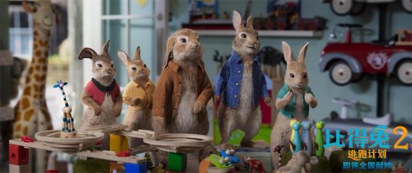 《比得兔2:逃跑计划》发短片揭兔头成名史