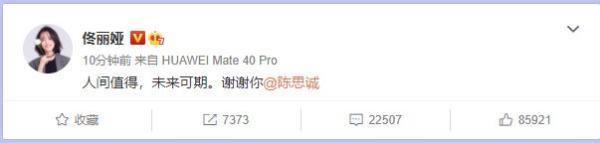 佟丽娅陈思诚宣布离婚:换种身份守护