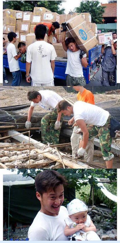 吴京在汶川地震时给灾民搭建帐篷 网友:感谢这些为灾区拼过命的人!