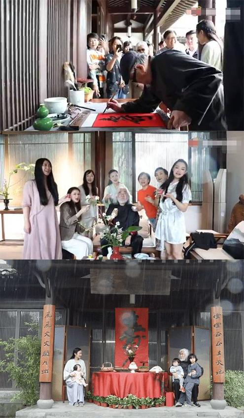 张纪中70岁大寿!与家人一起吹蜡烛 获众美女举杯庆祝