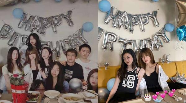 李嫣15岁生日轮番庆生 穿男友风球服被送玫瑰