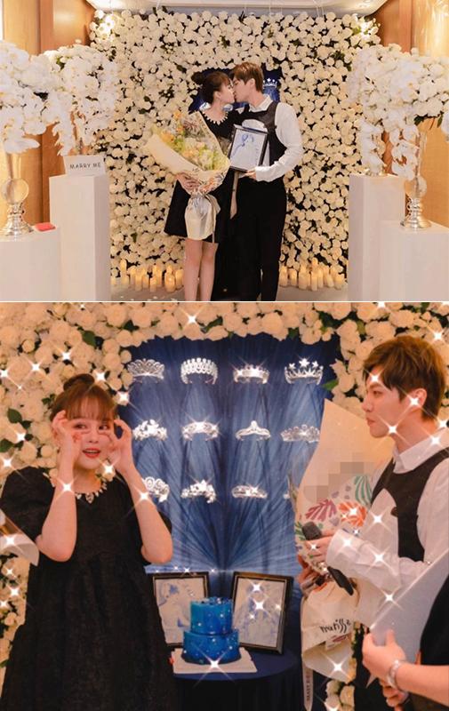 赵本山女儿答应男友求婚 获赠超大钻戒现场甜蜜拥吻