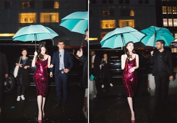 雨中撑伞绝美了!倪妮鞠婧祎冷艳高贵 刘诗诗酷飒气场大开
