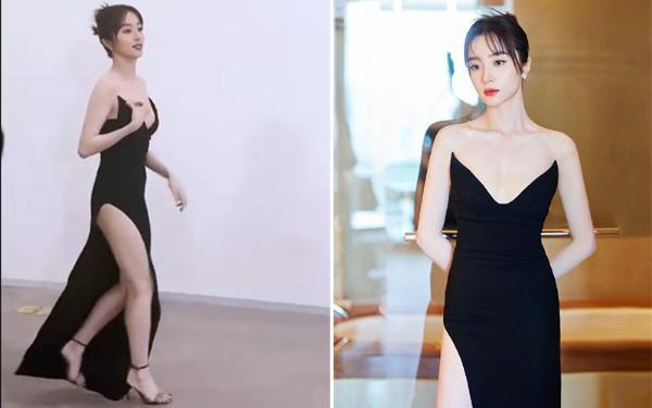 女星穿黑色高叉裙!胡冰卿温婉童瑶贵气 钟楚曦腿长两米八