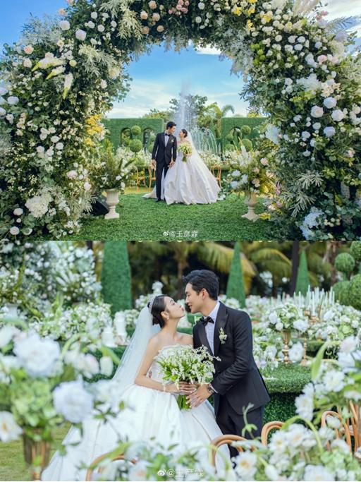 王彦霖晒婚礼现场照 和妻子甜蜜对视爱意满满