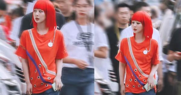 杨紫路透曝红发造型 竟是在致敬童年经典形象