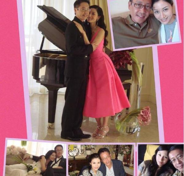 李嘉欣晒与老公合照庆结婚十周年 两人相互依偎超甜蜜