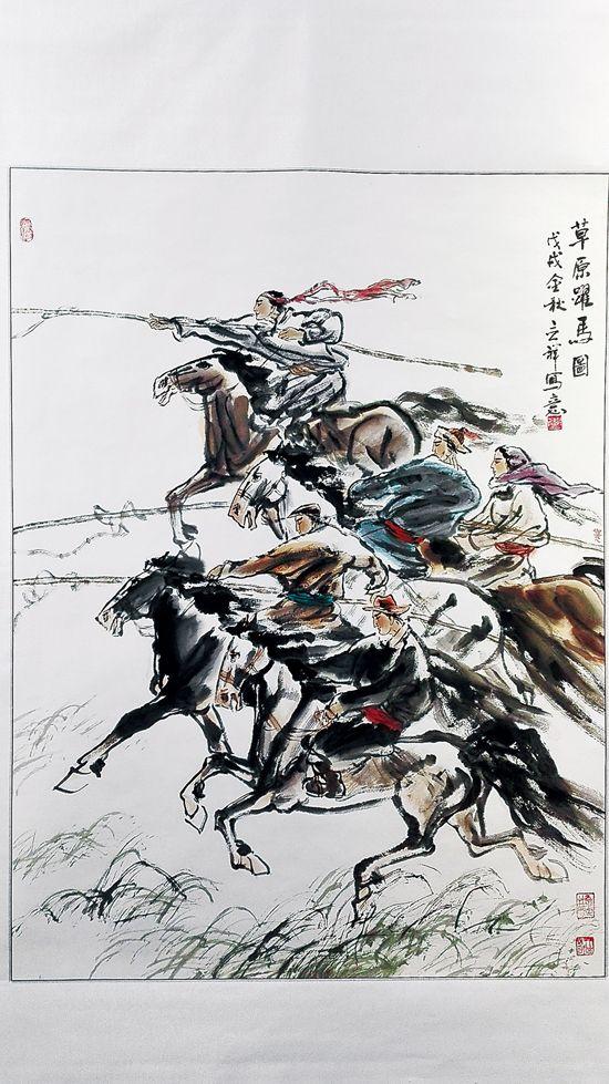 老李家三代人书画展演绎艺术传承