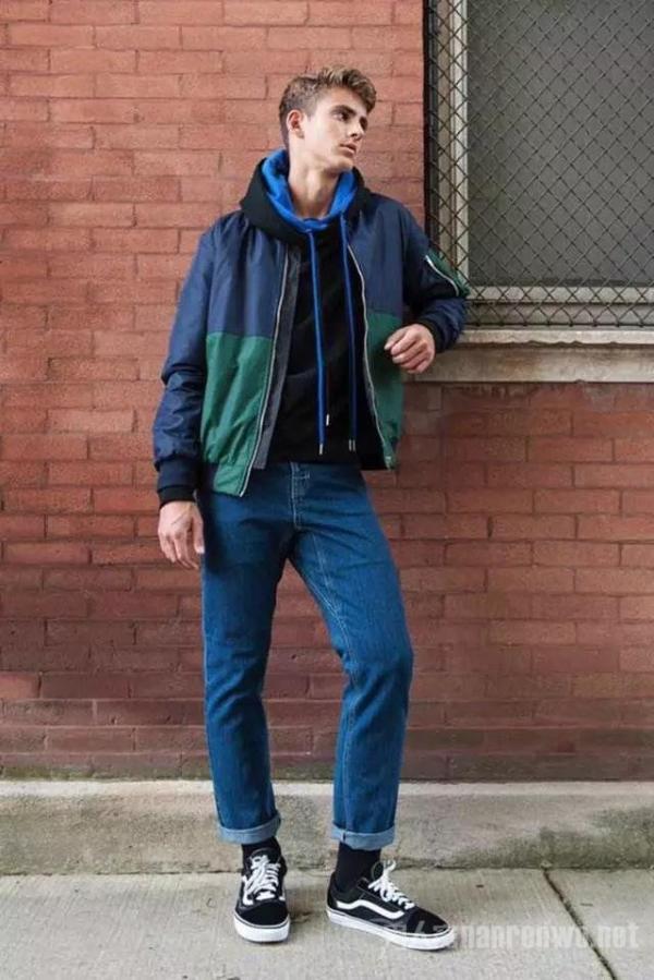运动夹克打造街头时尚风?运动也可以这样耍酷!