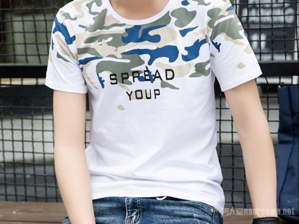 一件夏季个性迷彩T恤 满足你内心的军人梦想