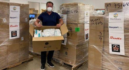 施瓦辛格为前线医护人员捐赠5万只N95口罩