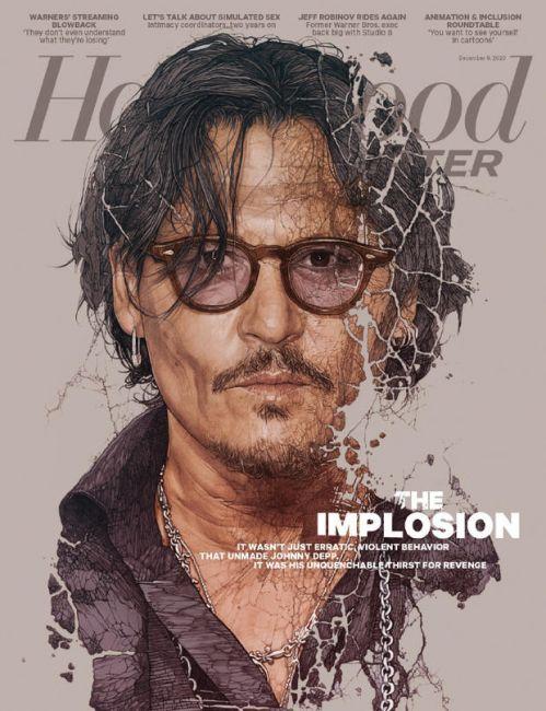 约翰尼·德普登上《好莱坞报道者》新封面