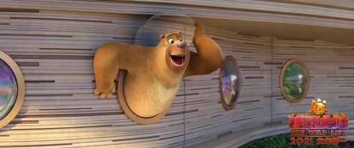 """预售开启!《熊出没·狂野大陆》曝""""招财熊""""版海报 光头强稳坐C位送财运贺新年"""
