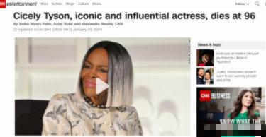 美国传奇女演员西塞利·泰森去世 获奥斯卡终身成就奖