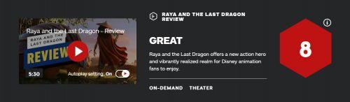口碑上乘!迪士尼亚裔女主动画《寻龙传说》IGN评分8分
